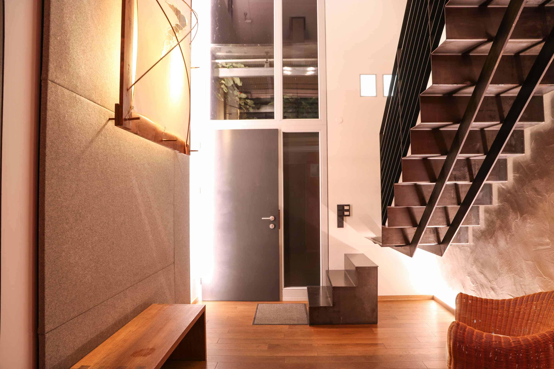 Treppenhaus und Eingangsbereich Ferienhaus